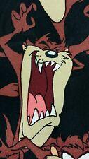 WB Looney Tunes Mania Tie Taz Black 100% Polyester