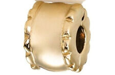 Original Pandora Element 750256 Charm Gold 14 K 585 Geflüster Clip Neu Stopper