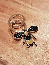 Burberry London Black and Yellow Bee-Charm Motif KeyRing