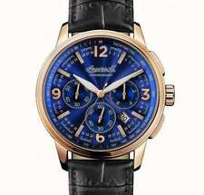 Ingersoll Men's Watch The Regent Quartz Chronograph 100105 / Black Leather Strap