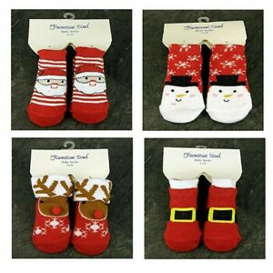 Baby, Toddler, Christmas , Cotton Blend Bootee Socks 1 Pair , 4 designs