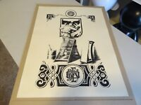 2007 2x SIDED OBEY Shepard Fairey CONCERT OF THE BEAST  & VINTAGE MAN ART PRINT