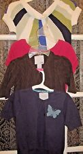 4 Old navy~Youth Girl~Pretty~Navy~Hot Pink~Short sleeve~Sweaters~SZ X-Small~4-5!
