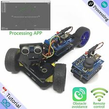 Freenove Three-wheeled Smart Car Kit for Arduino Uno Robot Wireless Ultrasonic