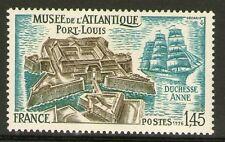 TIMBRE 1913 NEUF XX LUXE MUSEE DE L'ATLANTIQUE PORT-LOUIS. VOILIER DUCHESSE ANNE