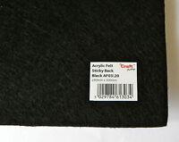 Sticky Back Acrylic Felt 23 x 30 cm Black