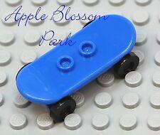 NEW Lego City Minifig BLUE SKATEBOARD -Boy/Girl Minifigure Skate Board Toy
