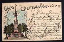 92462 AK Eberswalde Litho 1899 Kaiser Wilhelm Turm