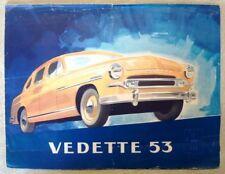 FORD VEDETTE CAR SALES BROCHURE CIRCA 1953.