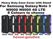 Heavy Duty Case Cover Stand for Samsung Galaxy Note 3 LTE 4G Strong Durable TPU