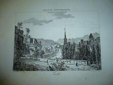 GRAVURE VILLE DE TULLE 1890
