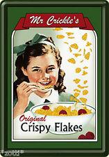 Nostalgic Art Mr. Crickle´s Original Crispy Flakes Blechpostkarte Blechschild *