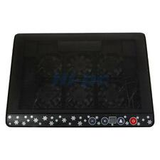 """LED USB Power 6 Fan Adjustable 12""""-17"""" Laptop Notebook Cooling Cooler Pad Stand"""