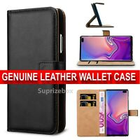 Case for Samsung Galaxy S10 5G Luxury Genuine Leather Wallet Stand Cover