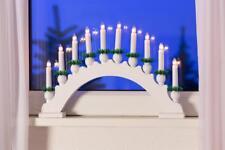 Kerzenleuchter 10er Holz Leuchter Weihnachtsbeleuchtung Lichterbogen innen weiß