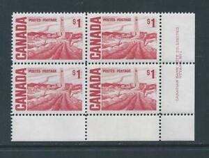 Canada #465B LR PL BL Centennial Plate Block MNH