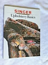 Singer UPHOLSTREY BASICS Sewing Reference Library Book color pics instructions