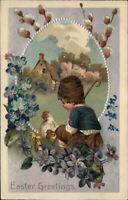 LOT of 6 Easter - Children Eggs Chicks - c1910 Postcards 2 PFB