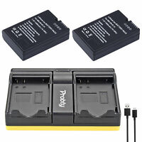 2Pcs EN-EL14 + USB Dual Charger for Nikon D5200 D3100 D3200 D5100 P7000 P7100