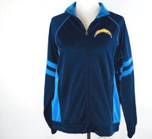 GIII For Her NFL Womens San Diego Chargers Legend Track Jacket Blue Black XL NWT