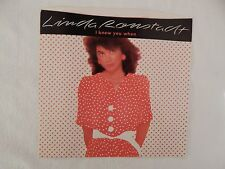 "LINDA RONSTADT ""I KNEW YOU WHEN"" PICTURE SLEEVE! BRAND NEW! ONLY NEW COPY eBAY!"