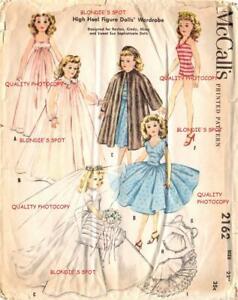"""2162 22"""" Doll Clothes Pattern Miss Revlon Toni Ginger Cindy Adams Nancy Ann"""