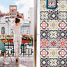 Self-adhesive Moroccan Style Home Decor Kitchen Bathroom Art Wall Tile Stickers