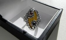 Stunning 13g sterling silver 925 full HM Southwestern Navajo style ring T.5 (10)