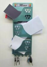 Memo Letter Tray and Keys Holder- Neat Storage of Keys, Letters, Brochures Green