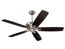 "EMERSON 60"" Carrera Ceiling Fan Brushed Steel w/ Reversible Blades CF784BS"