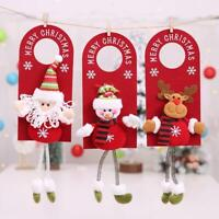 Xmas Tree Santa Claus Snowman DIY Hanging Door Ornament Christmas Home Party