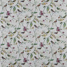 Prestigious Textiles - Birdsong - Orchid - Fabric - 30cm x 134cm - Face Masks