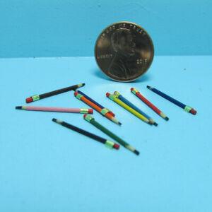 Dollhouse Miniature Colored Pencil Set 10 Pieces IM65404