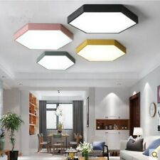 Ultrathin LED Bulb Hexagon Ceiling Light Modern Metal Foyer Daily Lighting Home