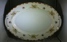 "VINTAGE HARMONY HOUSE FINE CHINA WEMBLY 16"" OVAL SERVING PLATTER VERY GOOD COND."