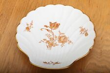 Limoges France Compote Large Shell Serving Dish Gold Flowers