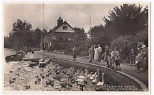 Powys; Llandrindod Wells, Feeding the Swans RP PPC, Unposted, c 1950's