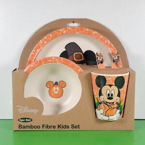 Bamboo Fibre Kids Set MICKEY HALLOWEEN / THANKSGIVING   Plate-Bowl-Cup-Utensils