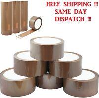 "Brown Buff Parcel Packaging Packing Tape Carton Sealing 2"" 48mm x 50m"