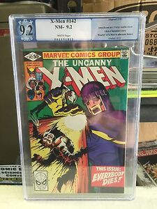 X-Men #142  Graded 9.2 white pages future past INV 2