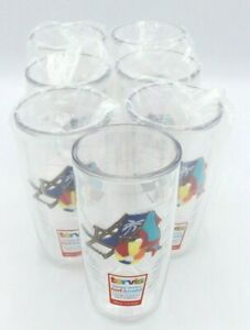 Set of 7 NEW Tervis Tumblers with Beach Chair Logo