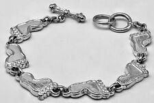"Best Silver Tone Charm 8"" Bracelet"