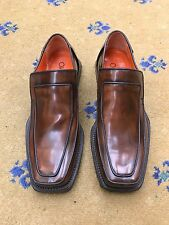 New Oliver Sweeney Men's Shoes Brown Leather Loafers  UK 7.5 US 8.5 41.5 Antique