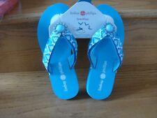 5c6ed18ef623 Lindsay Phillips LuLu Flip Flops Interchangeable Strap Blue Size 6 New