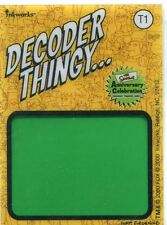 Simpsons 10th Anniversary Decoder Thingy Chase Card T1