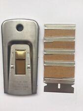 1 X USA scraper/window scraper GENUINE USA + 5 X single edge razor blades USA