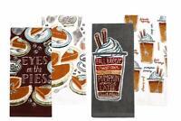 Celebrate Fall Together Pumpkin Spice Latte Kitchen Towel 4 -Pack
