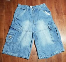 Mens First Down Jeans Denim Cargo Casual Camping Shorts Size 30 Distressed* B342