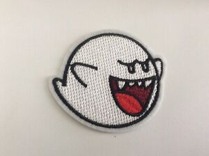 """2.5"""" Nintendo Super Mario Ghost Boo DIY Iron On Embroidered Applique Patch"""