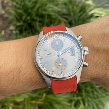 IWC Pilot Chronograph RED Rubber Strap w/ Deployment Buckle Clasp RED
